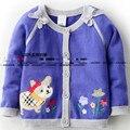 Envío libre niños niñas niños suéter suéteres cardigan bebé suéter cardigan superior prendas de vestir exteriores del suéter de punto cardigan