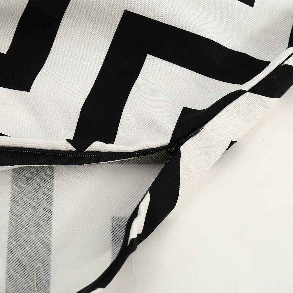 Европейский стиль Черный и белый цвета Волна Полосатый настольная дорожка катерть для стола фигурки жениха и невесты; дорожка для кровати в гостинице, украшения для дома с кисточками