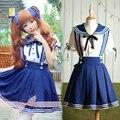 Влюбленность жить! Костюмы 3 цвета женщины в девочка косплей-костюмы горничная аниме платье сейлор форма