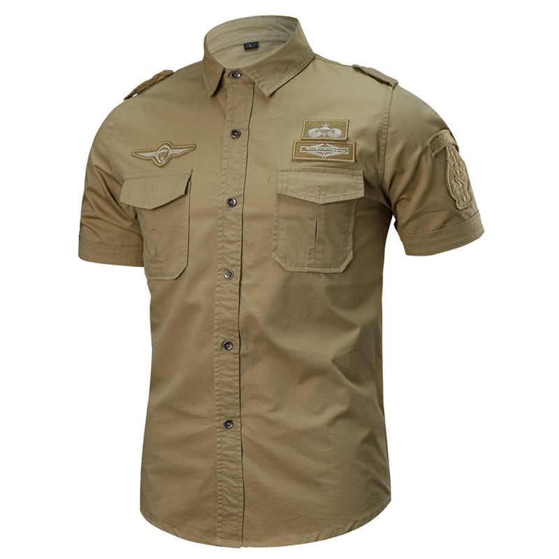 MAGCOMSEN Для мужчин, футболка с коротким рукавом летняя Военная Униформа Повседневная рубашка для мужчин хлопок грузовые тактические армейские рубашки 6XL плюс Размеры AG-JH-01
