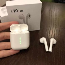 2019 Original best quality i10 tws 1:1 Wireless bluetooth 3D bass earphone For airb PK i16 i14 i13 i12 tws