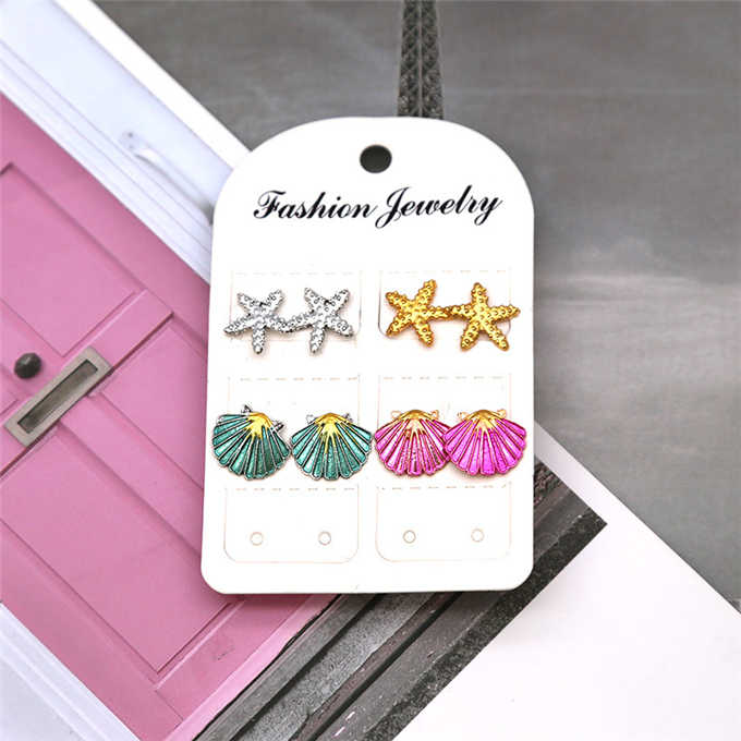 4 pairs /set earrings New fashion women's jewelry wholesale girls birthday party pearl earrings set mashup
