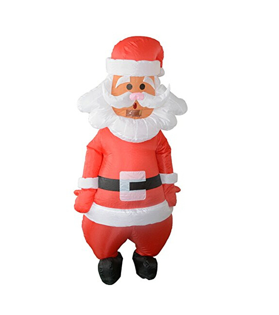 hot sale inflatable christmas santa claus blow up adult red fancy dress costume xmas decorations
