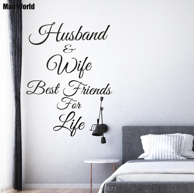 Mad World Husband And Wife Best Friends For Life Wall Art Stickers