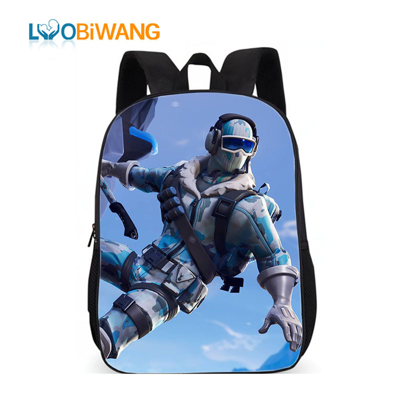 LUOBIWANG Battle Royale Printed Schoolbag For Teenager Boys And Girls Cartoon Character Backpack Child Mochila Schoolbag