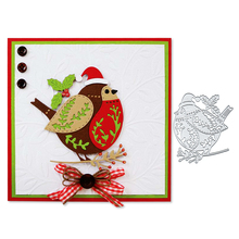 Julyarts Fat Bird Dies Scrapbooking Metal Cutting Leaf Merry Christmas Stencil Embossing Craft Cut Paper Cards Making