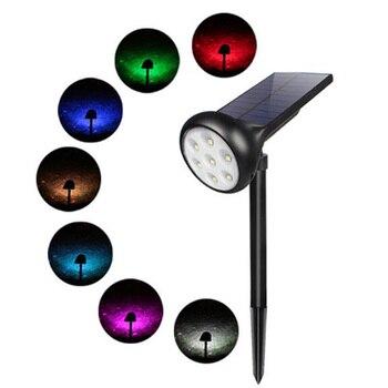 7 LED Solar Lights Spotlight Lawn Lamp Solar Lamp Adjustable Waterproof Multiple Light Colors Solar Outdoor Garden Lights