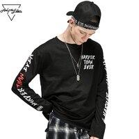 Aelfric Eden Long Sleeve T Shirt Men Letter 3d Printing Hip Hop T Shirts Cotton Kanye