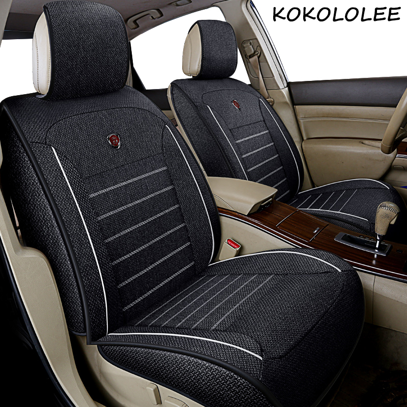 kokololee Universal flax Car Seat covers for Volvo all models c30 s40 v40 v60 xc60 xc90 xc70 s60 s80 car styling car accessories цена