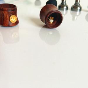 Image 4 - 10mm 이어 쉘 플러그 가능 mmcx 핀 나무 껍질