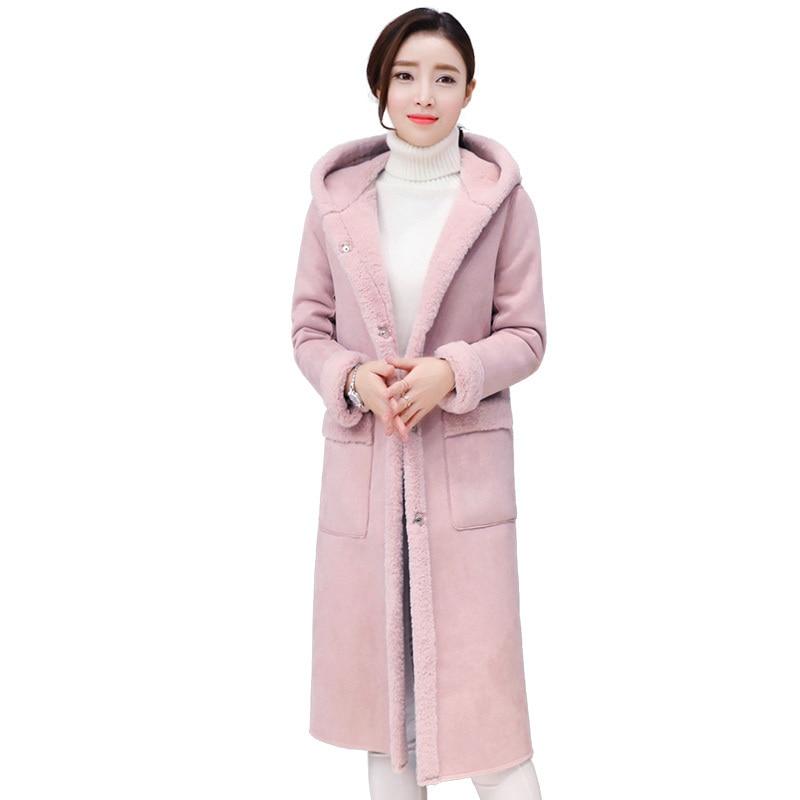 Chaud D'hiver Capuche Femme Long Vestes Pink Manteau À En Survêtement Gris gray Pardessus 2019 Cachemire caramel Femmes Qh067 Mince Rose Parkas yv0O8nwmN