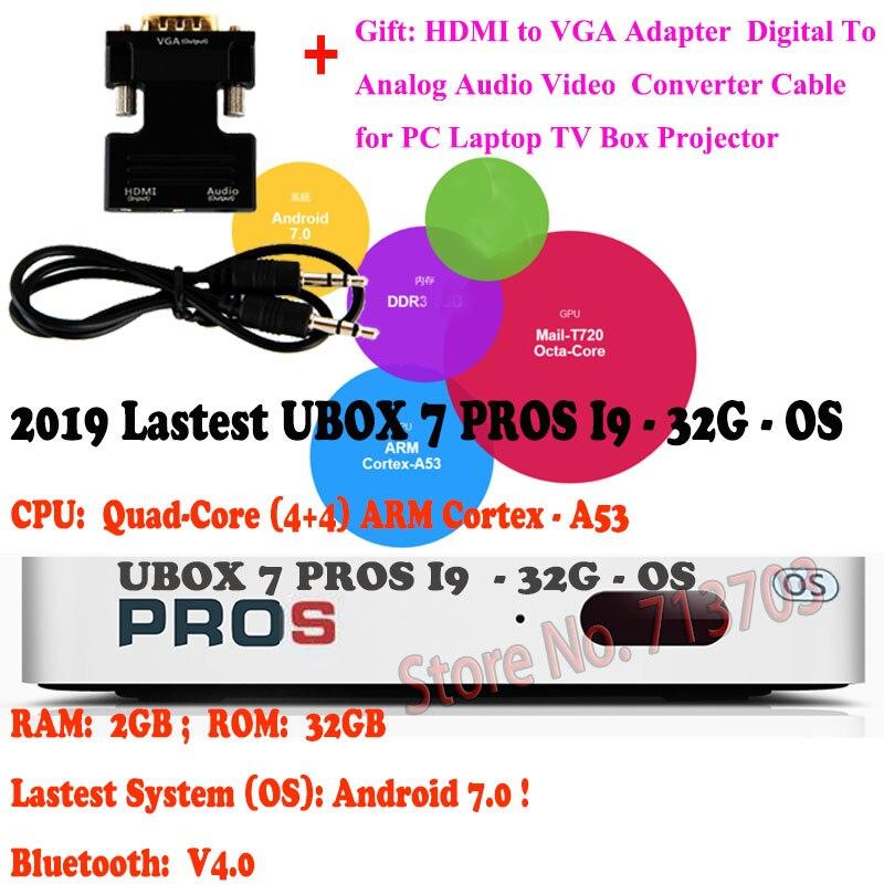 IPTV UNBLOCK Gen.7 UBOX7 UBOX 7 PROS I9 2 ГБ 32 ГБ Android 7,0 Smart TV Box Ultra HD 4K медиаплеер Asia's Free TV Live Channels