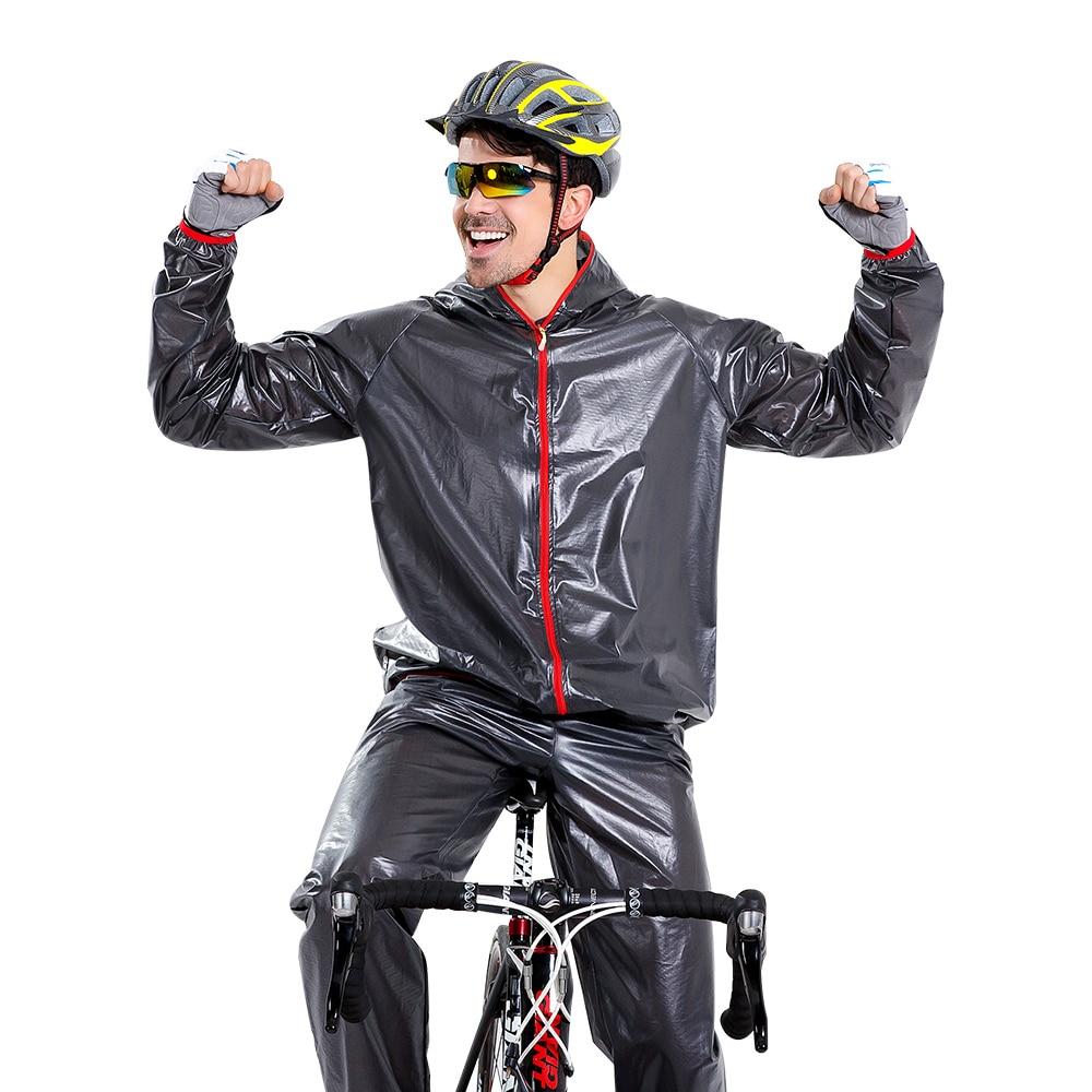 Yuding Imerpeable imperméable vélo mince pluie ensembles hommes Biker pluie veste plein air Sports femme/homme moto manteau costume