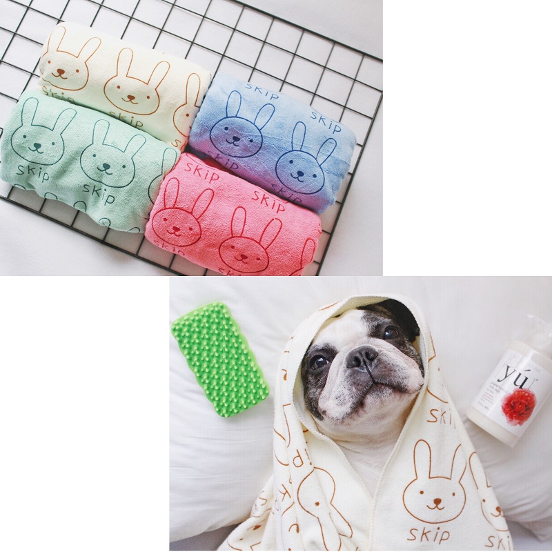 SexeMara 140*70cm Special microfiber large strong suction pet towel golden retriever teddy dog cat a bath towel dog bathrobe