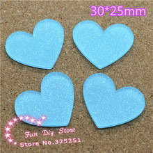 acrylic shiny light blue heart Cabochon Flat back Scrapbooking free shipping 50pcs/lot 30*25mm