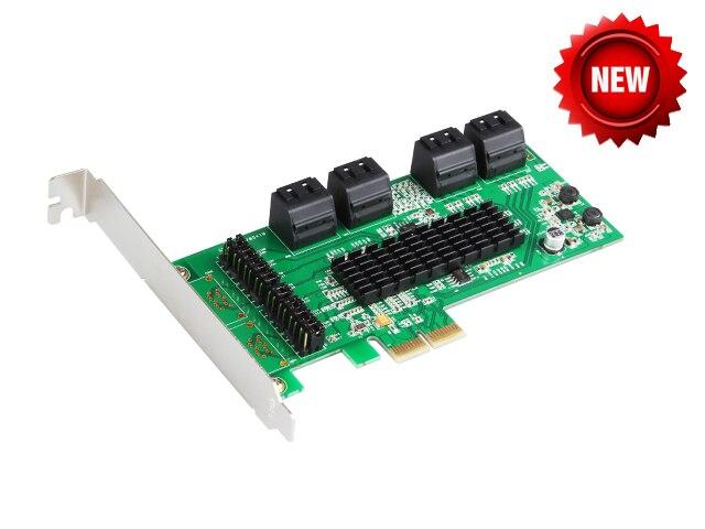 Chipset Marvell 8 Ports SATA 6 GB carte contrôleur PCI Express PCI-e vers SATA 3.0 convertisseur prend en charge NCQ & Port multiplicateur FIS