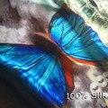 Mujeres Bufanda de Seda de La Mariposa de La Manera Brillante Grande Blanket wrap Foulard de Impresión de Lujo A Estrenar 180x90 [0504]