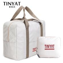 TINYAT, Женская дорожная сумка, жесткая складная сумка для багажа, одежда, деловая сумка, мужская сумка для хранения, переноска, подвесной чемодан, светильник, мужская сумка