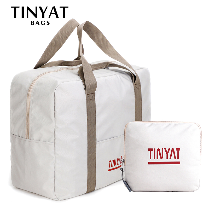TINYAT Women Travel Bag Hard Fold Luggage Bag Clothing Business Bag Men Storage Bag  Carry On Hanging Suitcase Light Garment Bag