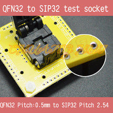 QFN32 to SIP32 test socket WSON32 MLF32 DFN32 0.5mm 2.54mm