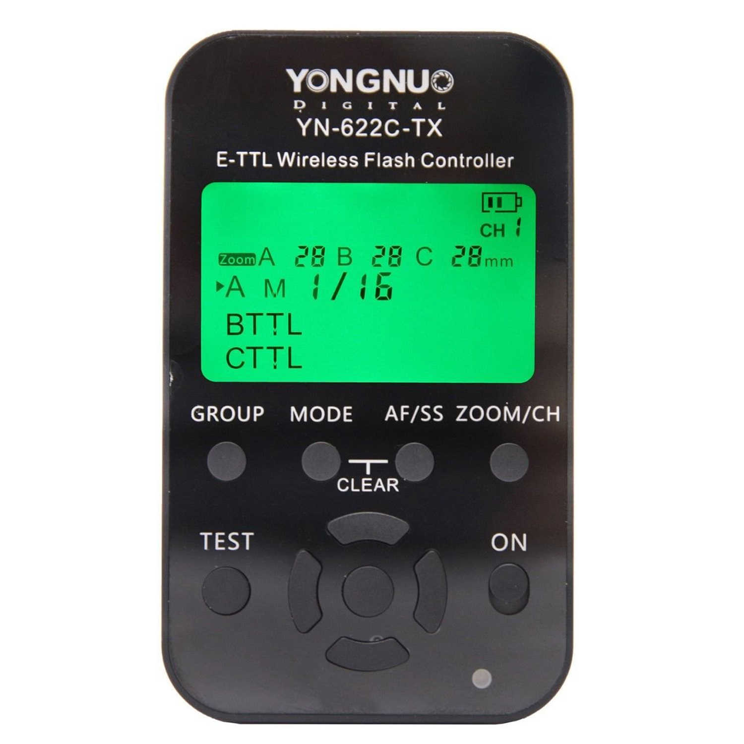 Yongnuo YN-622C-TX, E-TTL Wireless Flash Controller for Canon, YN622C-TX