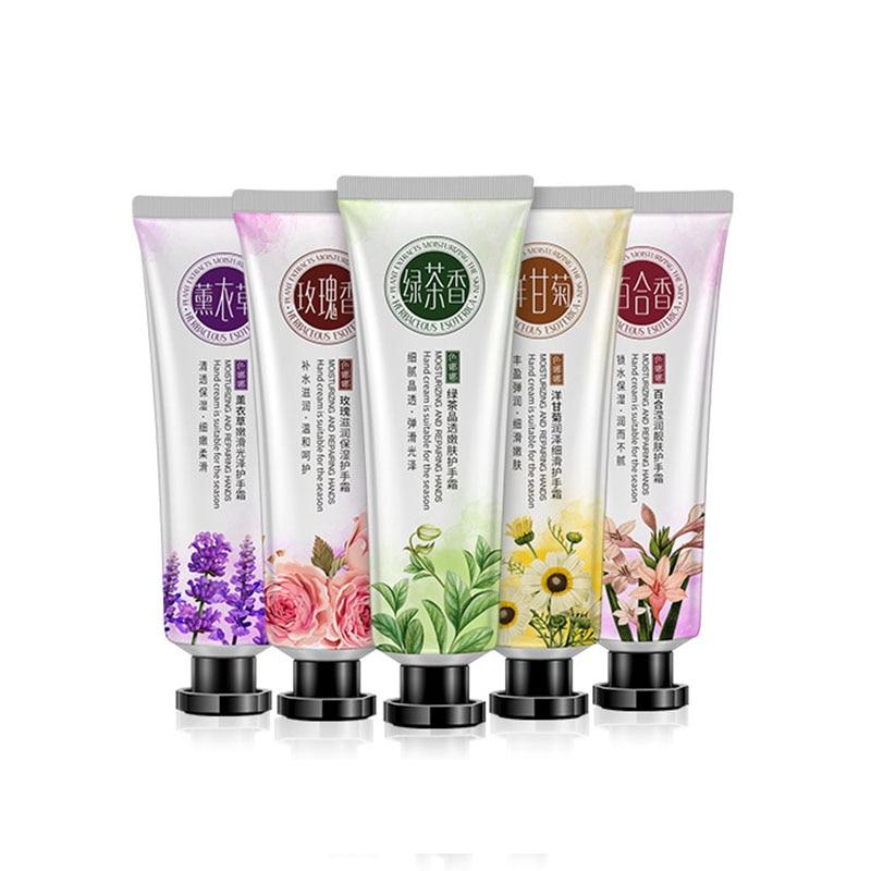 Hand Cream Mini Cute Hand Lotions Nourishing Hand Care Cream For Womem Whitening Moisturizing  5 Types Fragrance