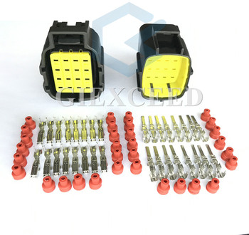 16 Pin 368047-1/368049-1 368050-1 Lamp Light Socket Auto Connector For Denso Female Male Automotive Plug image