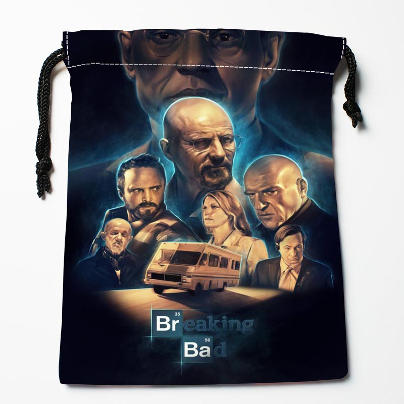 New Custom Breaking Bad Drawstring Bags Custom Storage Bags Storage Printed Gift Bags 27x35cm Compression Type Bags