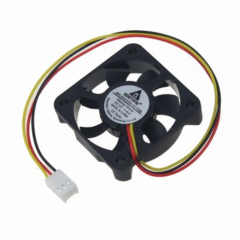 Gdstime 100pcs New Plastic DC 12V 3 Pins Connector Brushless Cooling Fan 50mm x 50mm x 10mm  5010 Small 7 Blades
