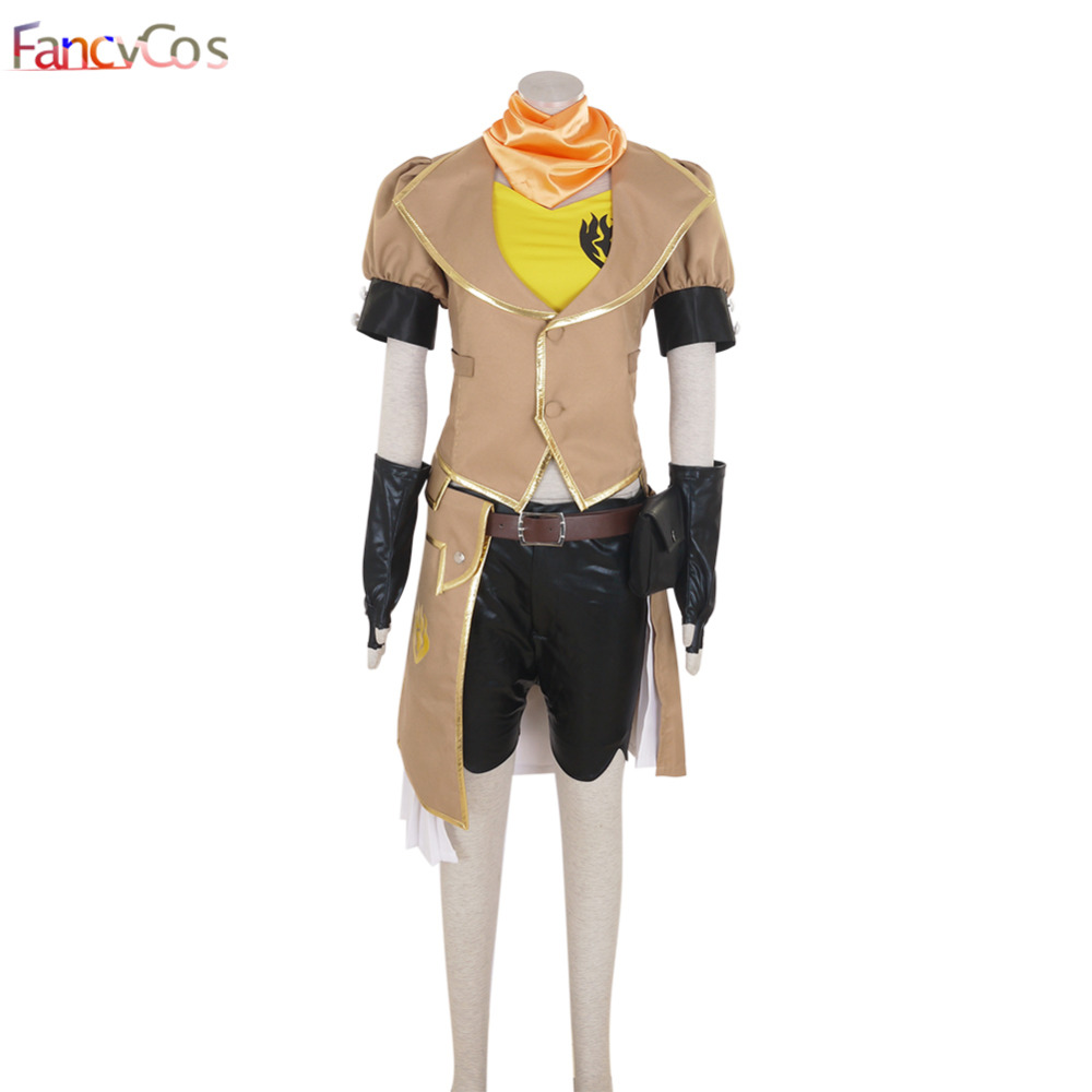 Halloween Women's RWBY Yang Xiao Long Dress Cosplay Costumes Adult Costume High Quality Deluxe