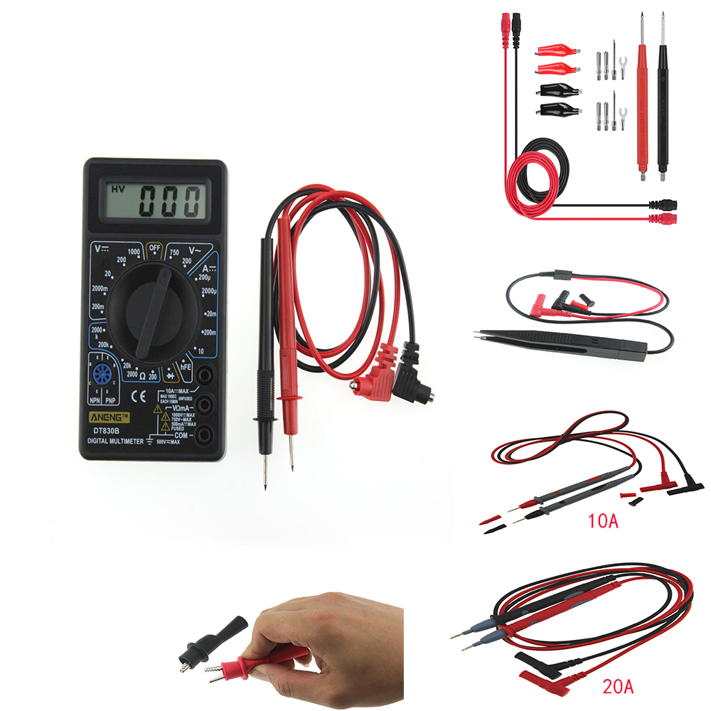 Digital Multimeter Alligator Crocodile Test Lead Clamps Voltage Test Clip Clamps Probes For Multimeter Tester Meter Probe