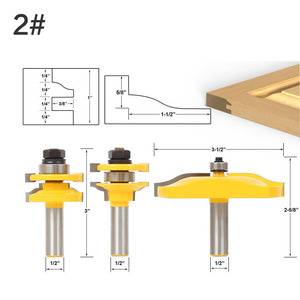 """Image 3 - 3 Bit Raised Panel Cabinet Door Router Bit Set  Bevel 1/2"""" Shank 12mm shankWoodworking cutter Tenon Cutter for Woodworking Tools"""