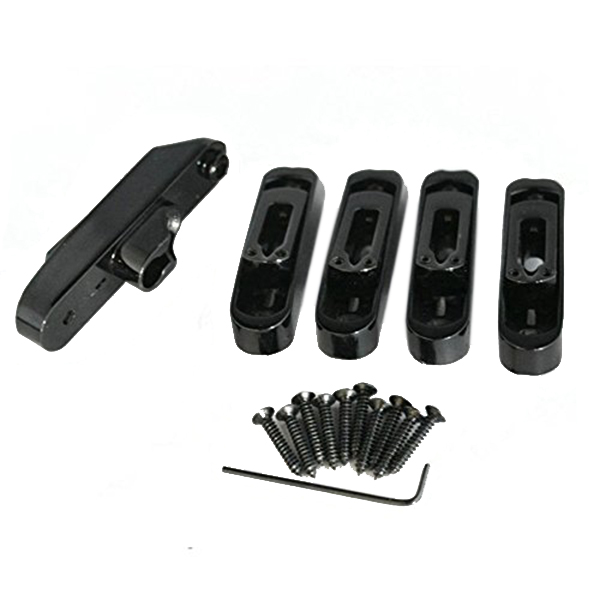 SALES 5x4 or 5 String Bridge Saddles Heavy Duty Individual Bass Bridge Tailpiece Black black bridge