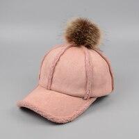 2018 جديد إمرأة شتاء دافئ قبعة بيسبول أزياء الفراء الكرة قبعة الهيب هوب snapback القبعات الشتوية الدافئة casquette