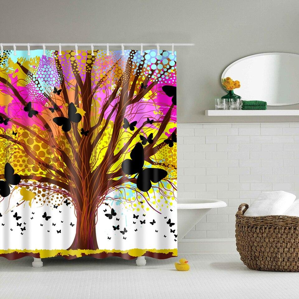 Svetanya árbol de Impresión Cortinas De Ducha Productos de Baño Decoración Cuart