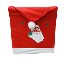 2017 Hot Sale 1pc Non Woven Santa Hat Chair Covers Christmas Decor Dinner Xmas Cap