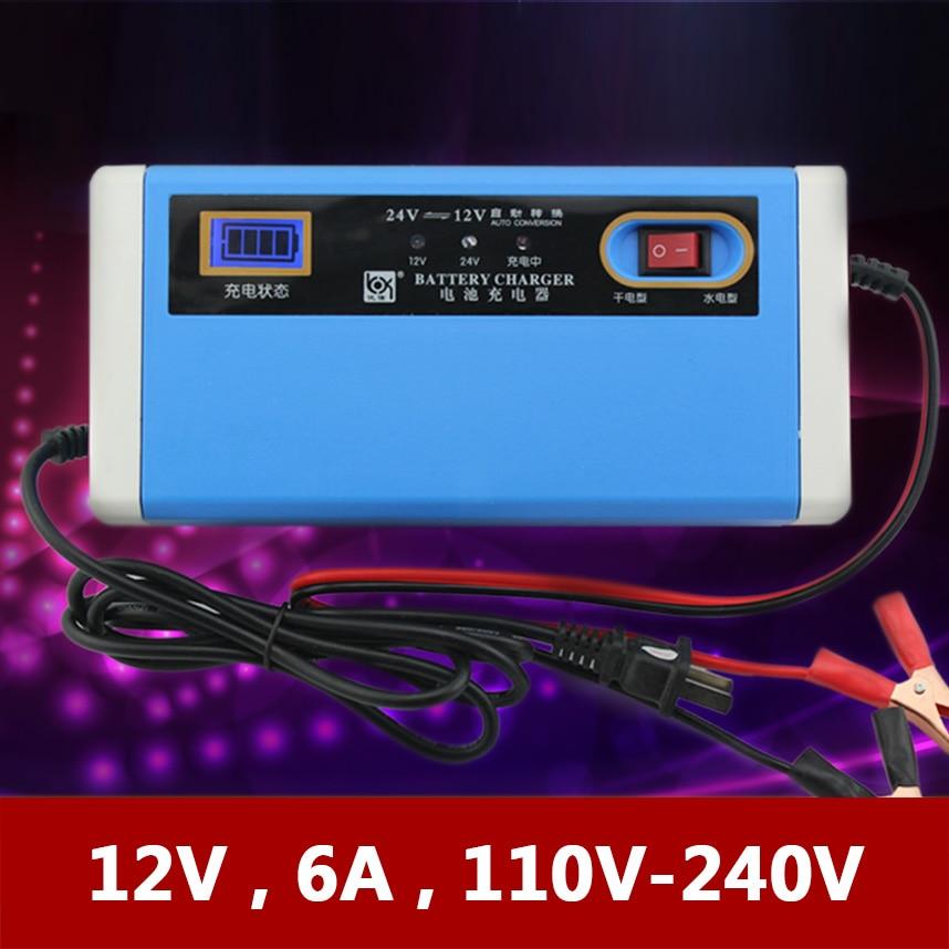 12 v 24 v 10A Batterie De Voiture Chargeur Automatique Moto Bateau Tricycle Au Plomb AGM GEL Batterie Charge 100AH 12 v 24 Volts 10 AMP Un