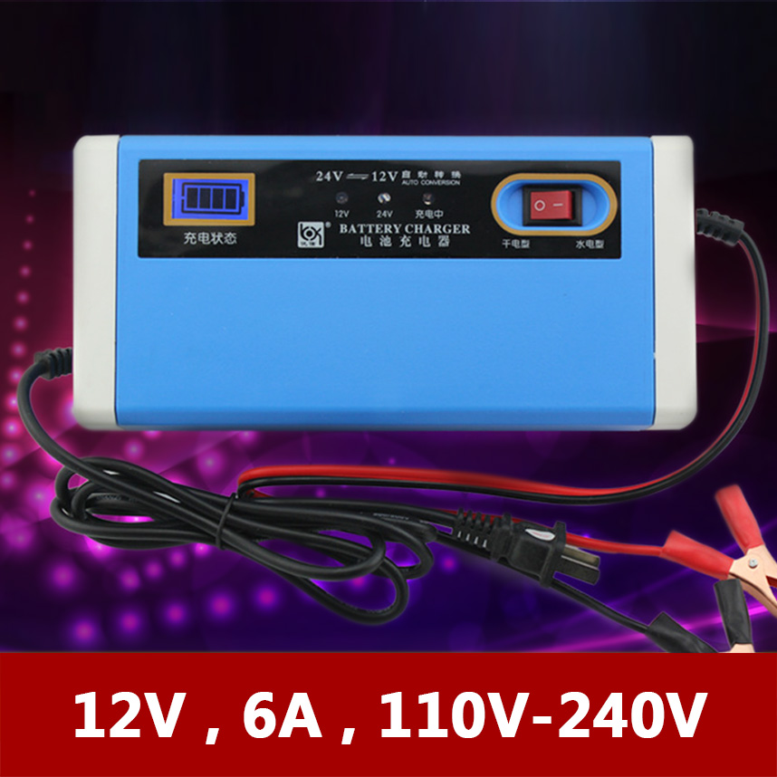 12V 24V 10A <font><b>Car</b></font> <font><b>Battery</b></font> Charger Automatic Motorcycle Boat Tricycle Lead Acid AGM GEL Batterie Charge <font><b>100AH</b></font> 12 V 24 Volt 10 AMP A image
