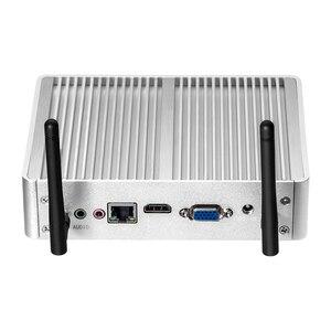 Image 2 - OLOEY Fanless Mini PC Intel Pentium 4405U Windows 10 Linux 8GB RAM 120GB SSD 300Mbps WiFi Gigabit Ethernet HDMI VGA 6 * USB NUC