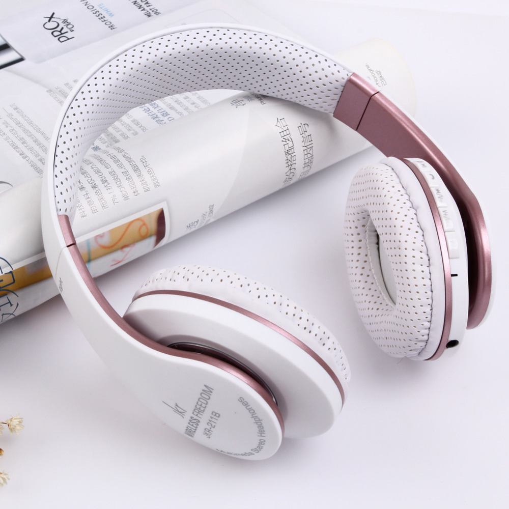 Wireless Bluetooth Headphones Stereo Headband fone de ouvido Headset Support TF FM Radio Handsfree with Mic Earphone J25