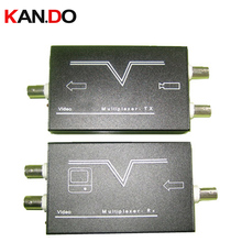 2-Channel Video Multiplexer with Common-Cable-Transmission for CCTV Security Camera by Coaxial Cable up to 600m 1 pair