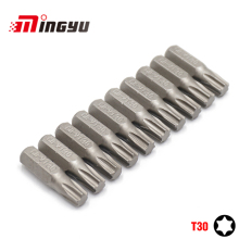 "10Pcs 1/4"" 25mm Torx T30 Screwdriver Bit Set Repair Too"