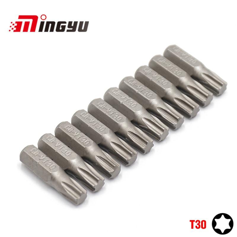 TAMPERPROOF SECURITY 6 Point Socket 10mm Hex Drive 30mm long T27 TORX BIT