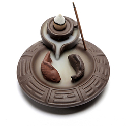 Backflow Incense Burner Creative Ceramic Incense Stick Holder Aromatherapy Censer for Home Office Living Room Teahouse