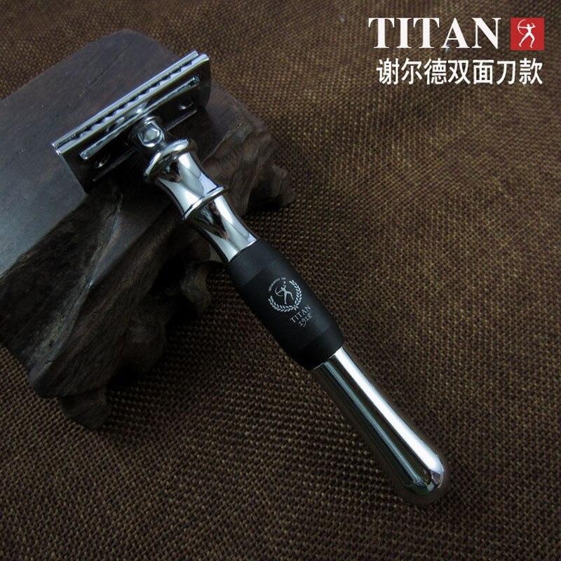 Titan rasoir de sécurité, poignée en métal, livraison gratuite de haute qualité rasage rasoir, remplaçable lame rasoir
