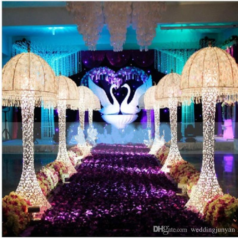 Fashion Purple Theme Wedding Centerpieces Favors Rose Petal Carpet Aisle Runner For Party Decoration Supplies In Backdrops From Home