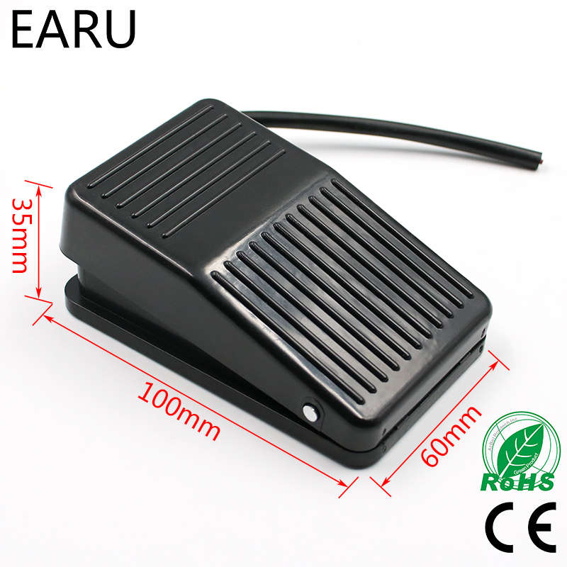Hot SPDT Nonslip Metal Momentary Electric Power Foot Pedal Switch Push Button Switch Security Alarm Good Quality