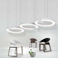 36W New Creative Modern LED Pendant Lights Circle Hanging Lamp Dining Room Living Room Pendant Light