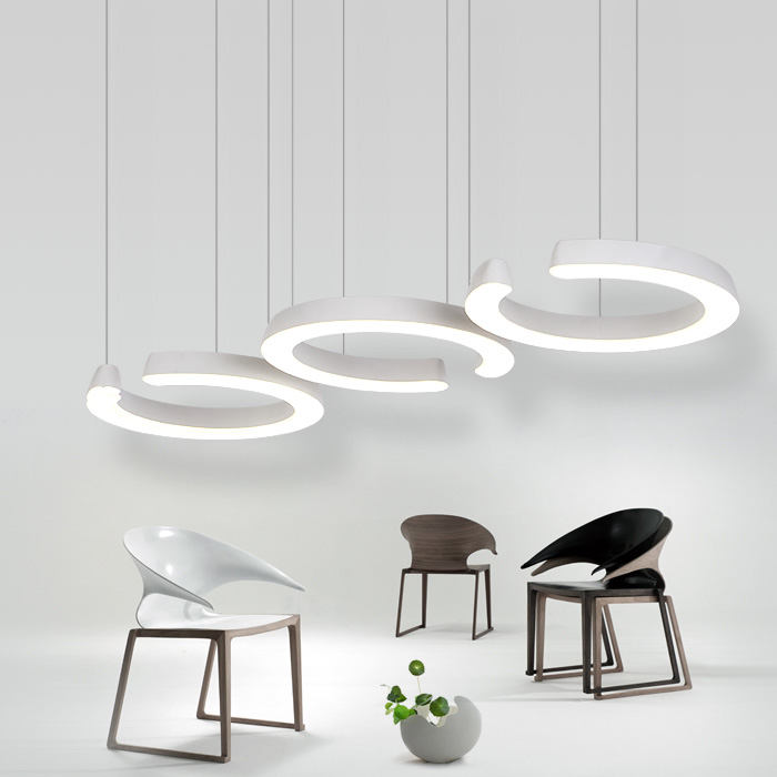 36W New Creative modern LED pendant lights Circle hanging lamp dining room living room pendant light 110V 220V hghomeart children room iron aircraft pendant light led 110v 220v e14 led lamp boy pendant lights for dining room modern hanging