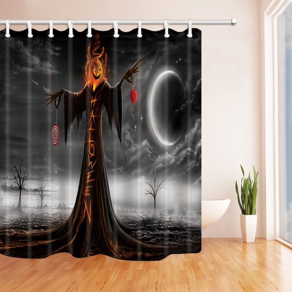 Halloween Shower Curtains For Bathroom, Queen Of Death